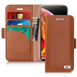FYY Etui book case wallet - iPhone X/XS (brązowy)