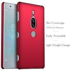 Etui Case Plecki Hard Cover - Sony Xperia XZ2 Premium (czerwony)