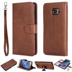 FYY Samsung Galaxy S7 Edge - Etui book case ze smyczką (brązowy)