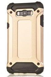 Rugged Armor Dual Layer Hard Shell Etui Samsung Galaxy J7 2016 J710 (gold) + szkło hartowane