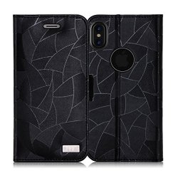 FYY Etui book case wallet - iPhone X/XS (czarny)