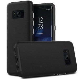 EASYACC Etui Case Heavy Duty Drop Protection - Samsung Galaxy S8 (Black)
