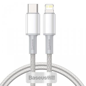 BASEUS DATA PD20W TYPE-C TO LIGHTNING CABLE 100CM WHITE