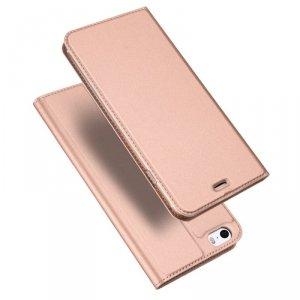 DUX DUCIS Skin Pro kabura etui pokrowiec z klapką iPhone SE / 5S / 5 różowy