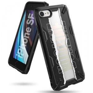 Ringke Fusion X Design etui pancerny pokrowiec z ramką iPhone SE 2020 / iPhone 8 / iPhone 7 czarny (XDAP0014)