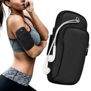 Armband do biegania opaska na ramię sportowe etui na telefon czarny