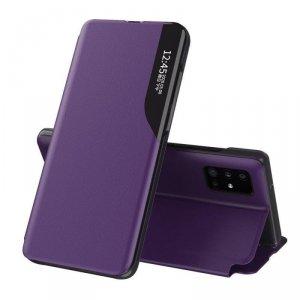 Eco Leather View Case elegancki futerał etui z klapką i funkcją podstawki Huawei P40 Pro fioletowy