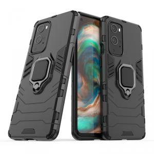 Ring Armor pancerne hybrydowe etui pokrowiec + magnetyczny uchwyt OnePlus 9 Pro czarny