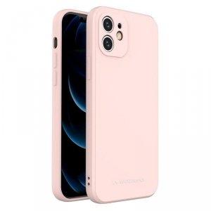 Color Case silikonowe elastyczne wytrzymałe etui iPhone SE 2020 / iPhone 8 / iPhone 7 różowy