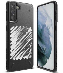 Ringke Onyx Design wytrzymałe etui pokrowiec Samsung Galaxy S21+ 5G (S21 Plus 5G) czarny (Paint) (OXAP0054)