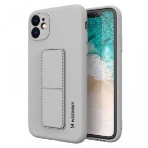 Kickstand Case elastyczne silikonowe etui z podstawką iPhone SE 2020 / iPhone 8 / iPhone 7 szary