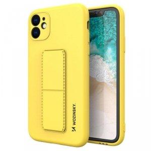 Kickstand Case elastyczne silikonowe etui z podstawką iPhone SE 2020 / iPhone 8 / iPhone 7 żółty