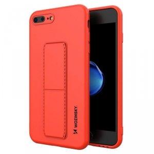 Kickstand Case elastyczne silikonowe etui z podstawką iPhone 8 Plus / iPhone 7 Plus czerwony