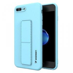 Kickstand Case elastyczne silikonowe etui z podstawką iPhone 8 Plus / iPhone 7 Plus jasnoniebieski