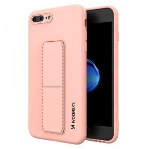 Kickstand Case elastyczne silikonowe etui z podstawką iPhone 8 Plus / iPhone 7 Plus różowy