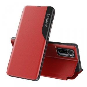 Eco Leather View Case elegancki futerał etui z klapką i funkcją podstawki Xiaomi Redmi Note 10 Pro czerwony