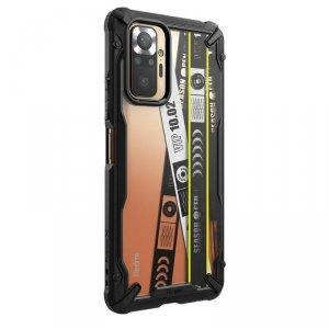 Ringke Fusion X Design etui pancerny pokrowiec z ramką Xiaomi Redmi Note 10 Pro czarny (Ticket band) (XDXI0024)