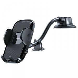 Joyroom samochodowy uchwyt na telefon z elastycznym ramieniem na deskę rozdzielczą szybę czarny (JR-ZS259)