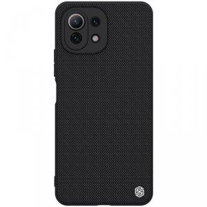 Nillkin Textured Case wytrzymałe wzmocnione etui z żelową ramką i nylonem na tyle Xiaomi Mi 11 Lite 5G czarny