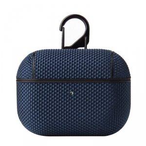 Nylon AirPods Case nylonowe etui hard case do AirPods Pro z karabińczykiem niebieski