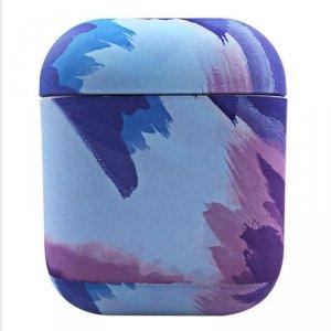 Watercolor AirPods Case kolorowe etui hard case do AirPods 2 / AirPods 1 niebieski