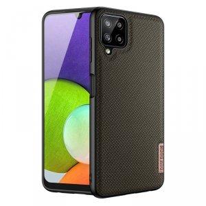 Dux Ducis Fino etui pokrowiec pokryty nylonowym materiałem Samsung Galaxy A22 4G zielony