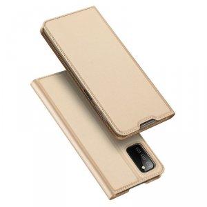 Dux Ducis Skin Pro kabura etui pokrowiec z klapką Samsung Galaxy A03s złoty
