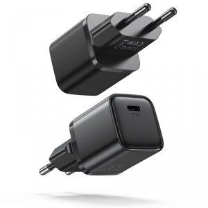 Joyroom szybka ładowarka sieciowa USB Typ C 20W Power Delivery Quick Charge 3.0 AFC czarna (L-P202)