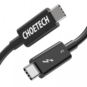 Choetech kabel USB Typ C - USB Typ C (Thunderbolt 3 - 40 Gbps) Power Delivery 100 W 5A 0,8 m (A3009)