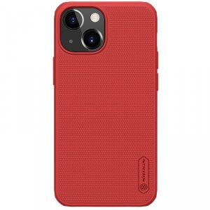 Nillkin Super Frosted Shield Pro wytrzymałe etui pokrowiec iPhone 13 mini czerwony