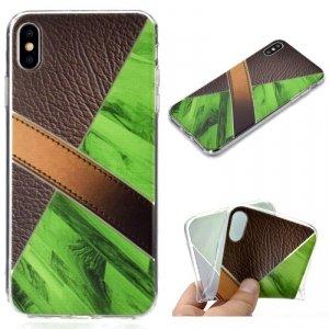 Etui Slim Art IPHONE XS MAX pattern printing kawowo-zielony