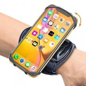Opaska na nadgarstek / ramię 360° do telefonu obrotowa czarna
