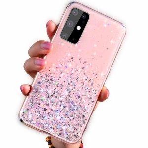 Etui HUAWEI P SMART 2020 Brokat Cekiny Glue Glitter Case różowe