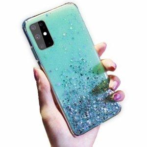 Etui XIAOMI REDMI 9 Brokat Cekiny Glue Glitter Case zielone