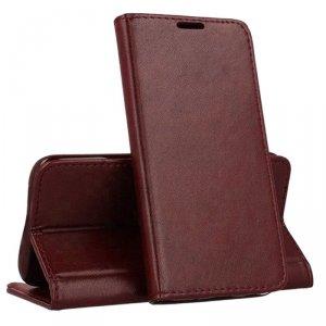 Etui NOKIA 2.3 portfel z klapką skóra ekologiczna Kabura Magnet Book burgundowe