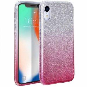 Etui XIAOMI REDMI NOTE 9S / PRO Brokat Glitter srebrno-różowe
