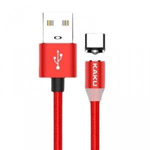 Kabel magnetyczny USB Typ C 3A 1m KAKU Magnetic Charging Cable (KSC-306) czerwony