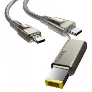 Kabel 100W 2m USB Typ C na USB Typ C + Złącze DC LENOVO Szybkie Ładowanie i Transfer Danych Baseus Flash Series One-for-two (CA1