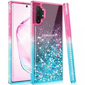Etui SAMSUNG GALAXY A32 5G Diamond Liquid Przelewany Brokat różowo-niebieskie