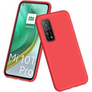 Etui XIAOMI REDMI NOTE 10 Silicone case elastyczne silikonowe czerwone