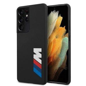 Etui BMW BMHCS21LMSLBLBK S21 Ultra G998 czarny/black hardcase Silicone Signature Logo
