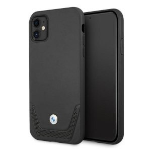 Etui BMW BMHCN61RSWPK iPhone 11 6,1 czarny/black hardcase Leather Perforate
