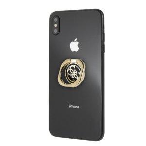 Etui GUESS Ring stand GURSEQGBK złoto-czarny /gold & black 4G