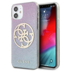 Guess GUHCP12SPCUGLBPG iPhone 12 mini 5,4 niebieski/blue hard case Glitter Gradient 4G Circle Logo