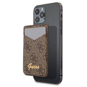 Etui Guess Wallet Card Slot GUWMS4GTLBR MagSafe 4G brąz/brown