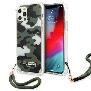 Etui Guess GUHCP12MKSARKA iPhone 12/12 Pro 6,1 zielony/khaki hardcase Camo Collection