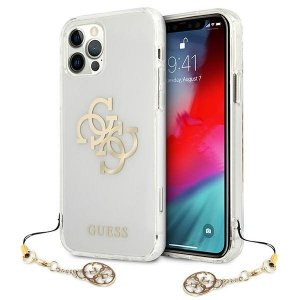 Etui Guess GUHCP12LKS4GGO iPhone 12 Pro Max 6,7 Transparent hardcase 4G Gold Charms Collection