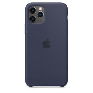 Etui Apple MWYJ2ZM/A iPhone 11 Pro granatowy/Midnight blue Silicone Case