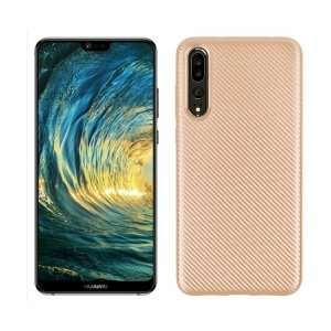 Etui Carbon Fiber Huawei P20 PRO złoty /gold