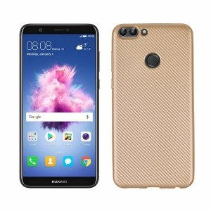 Etui Carbon Fiber Huawei P Smart złoty /gold